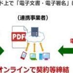電子契約実証実験イメージ
