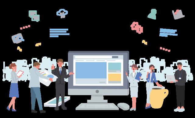 組織・人材マネジメント変革プロジェクトのイメージ